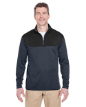 8233 UltraClub Adult Cool & Dry Sport Colorblock Quarter-Zip Pullover