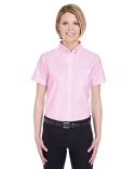 8973 UltraClub Ladies' Classic Wrinkle-Resistant Short-Sleeve Oxford